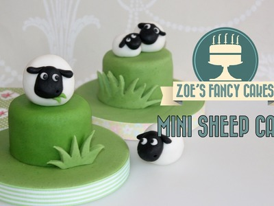 How to make a sheep cake topper fondant animals cute mini marzipan cake tutorial