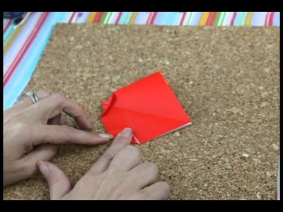 How to make a simple origami ladybug