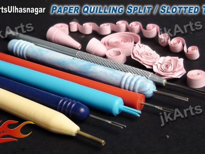 HOW TO: Use Paper Quilling Split. Slotted Tool - JK Arts 459