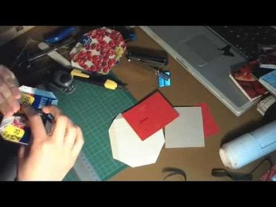 Making Of a Recycled Magic Wallet - time lapse
