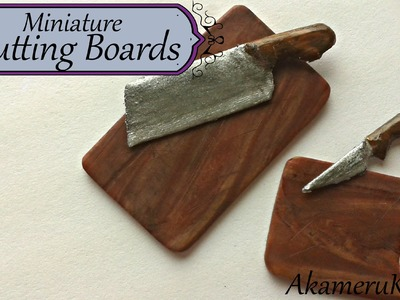 Miniature Cutting boards from polymer clay - Dollhouse miniature tutorial