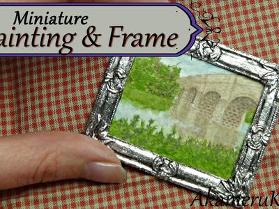 Miniature Painting and Frame in polymer clay - Dollhouse size