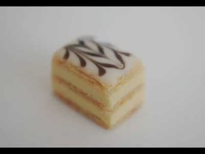 Napoleon Tutorial, Miniature Food Tutorial, Polymer Clay Food, Mille Feuille Tutorial