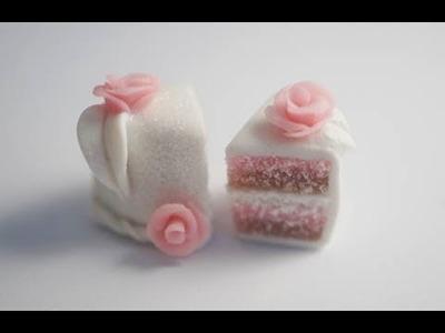 Pale Neapolitan Cake Tutorial, Polymer Clay Miniature Food Tutorial