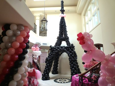 Pink Poodle in Paris Theme Birthday Decoration. DreamARK Events