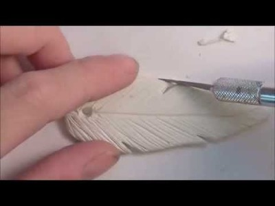 Polymer Clay Feather Pendant Tutorial (Part 1 of 2)