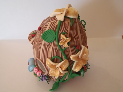 Polymer Clay - Making A Fariy House In An Egg Shape