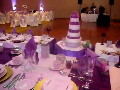 Purple Wedding Decor and Backdrop Toronto