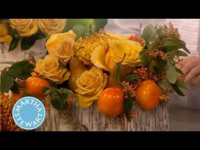 Rustic Holiday Flower Arrangement ⎢Thanksgiving Decorations | Martha Stewart