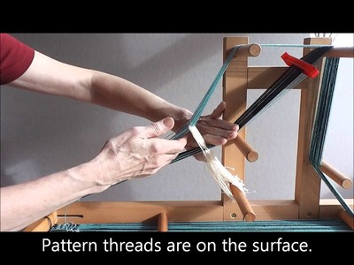 Weaving patterned bands from Mora, Sweden