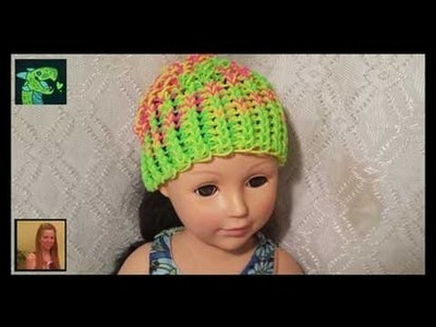 American Girl  Doll (size) Hat on The Rainbow Loom Original Design by Willlowcreat
