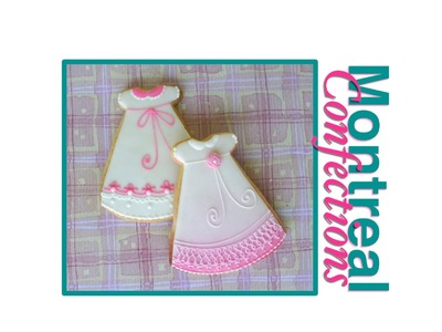 Baptism dress cookie tutorial