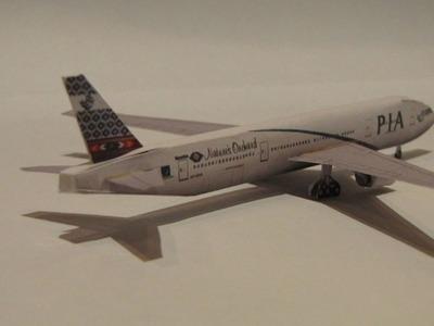 BOEING 777 200 PAPER MODEL (PAKISTAN INTERNATIONAL AIRLINES)