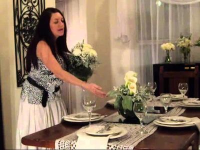 Decorating your table for a Dinner Party