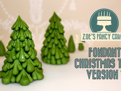 Fondant Christmas tree version 1 video how to tutorial cake topper
