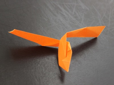 How to make a cool paper flying helicopter origami: instruction| Helicopter