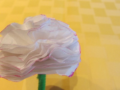 How to Make a Easy Carnation Tissue Paper Flower