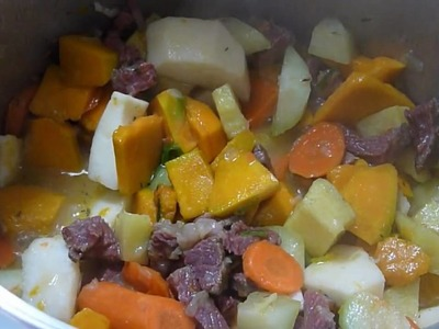How to make Jamaican work-at-home Soup.