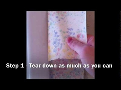 How To Quickly Remove Wall Paper