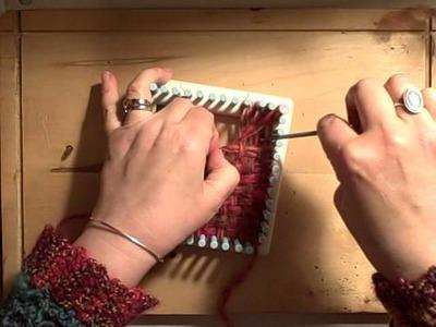 Martha Stewart Loom How to weave a triangle