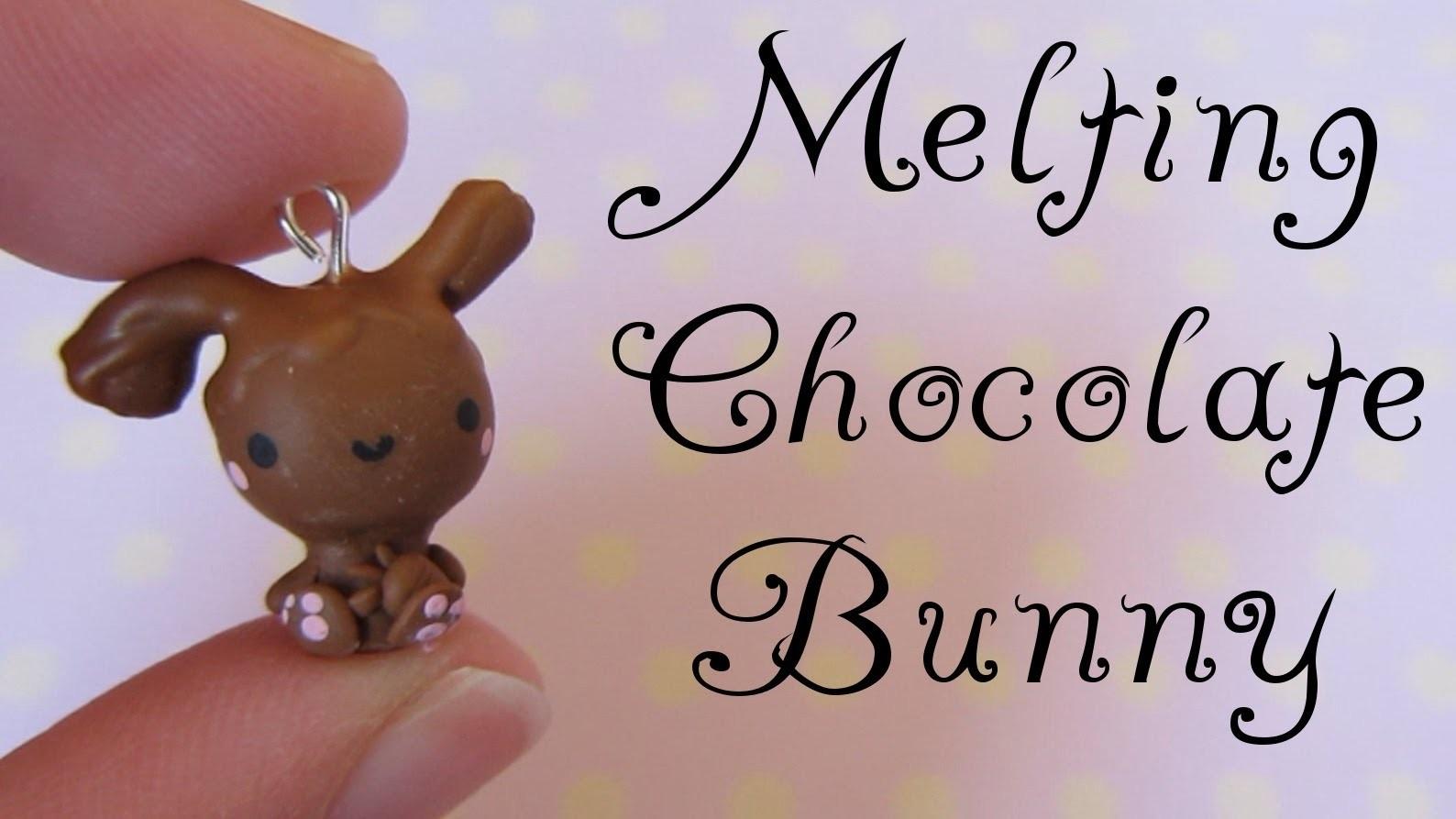 Melting Chocolate Bunny Tutorial: Polymer Clay Charm.