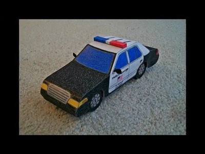 Paper Model of a Police Car