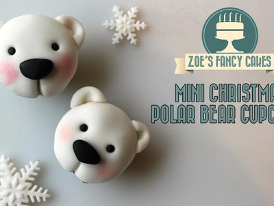 Polar bear cupcakes christmas cake decorating tutorial how to make polar bear cupcakes