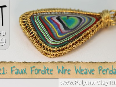 Polymer Clay Faux Fordite Wire Weave Pendant Tutorial (Intro)