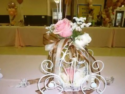 Princess Theme Baby Shower Decoration. Balloons & Flowers.DreamARK Events  *www.dreamarkevents.com*