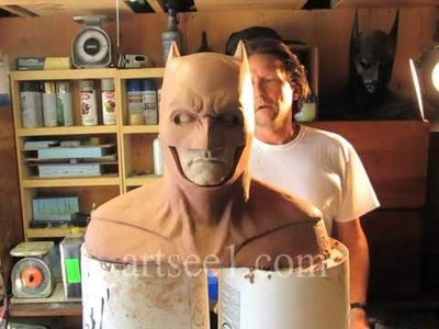 Batman Verses Superman Cowl Costume Sculpture Tutorial Part 6