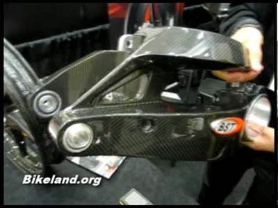 Bikeland Checks out BST's New Carbon Fiber Ducati Swingarm