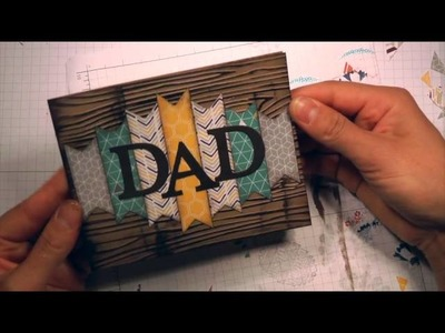 Cards! Cards! Monday!  Father's Day Card. Dry Embossing. Paper Piecing. Stampin' Up!