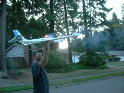 Cheapo Foam Glider Turned Into A Rocket Powered Plane