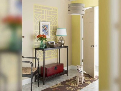 Create a wall design using tape and paint - Lowe's Creative Ideas