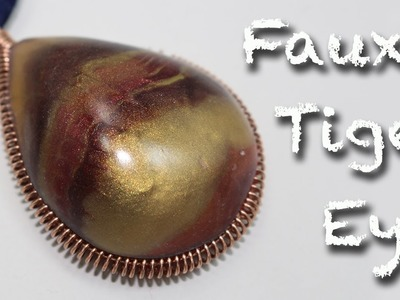 Faux Tiger's eye Stone - Polymer clay tutorial