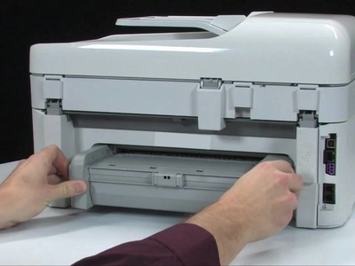 Fixing a Paper Jam - HP Photosmart Premium All-in-One Printer (C309a)