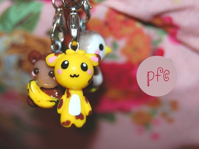 Giraffes, Bananas, and Stars {Polymer Clay Charm Update}