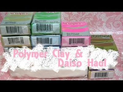[Haul] Polymer Clay and Daiso Haul #1