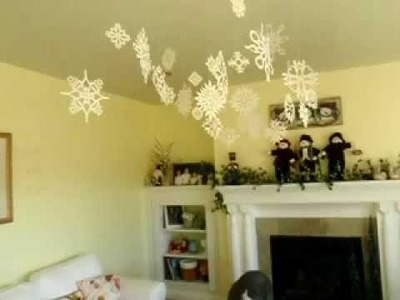 How To Cut make Paper Snowflake Patterns Flurry Display Easy