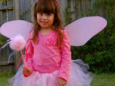 How to Fairy costume: make a tulle puff fairy wand