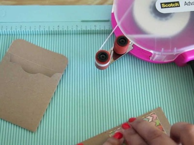 How to Make a  3 x 3 Mini Note card, with Matching Envelope, and Matching Seal