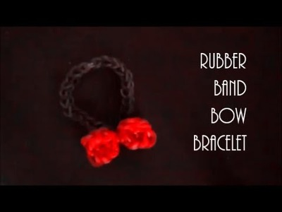 How To Make a Bow Rubber Band Bracelet Using Rainbow Loom