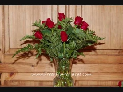 How to make a Flower Arrangement with a Dozen Red Roses