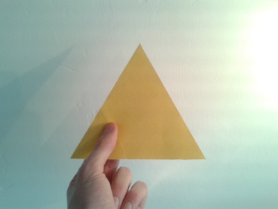 How to Make a Paper Equilateral Triangle