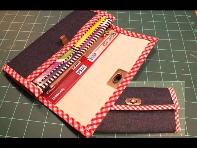 How to make a wallet. purse -  PART 1 of 2.DIY Bag Vol 10A