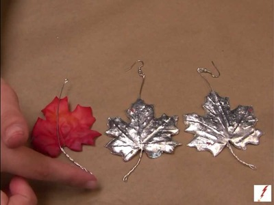 How to Make Silver Leaf Fall Earrings