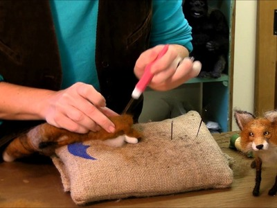 How to Needle Felt Animals - Fox Series 7: Ears by Sarafina Fiber Art
