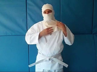 How To Put On The White Ninja Costume