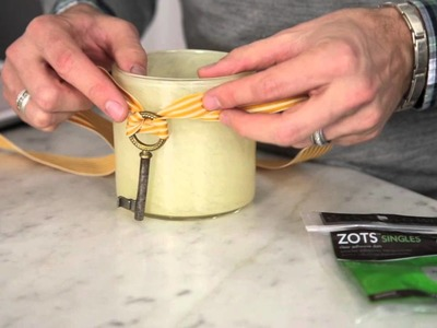 How To Re Use a Candle Glass Using a Vintage Key