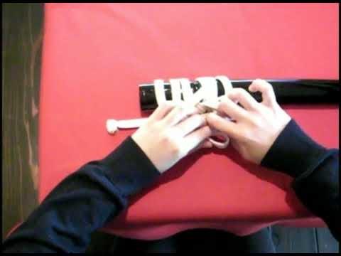 How To Tie Sageo of Japanese Sword - Tozando
